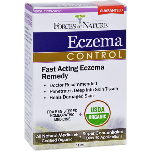 Forces Of Nature Organic Eczema Control - 11 Ml - Default Title - Homeopathic, Botanicals & Herbs - Forces Of Nature