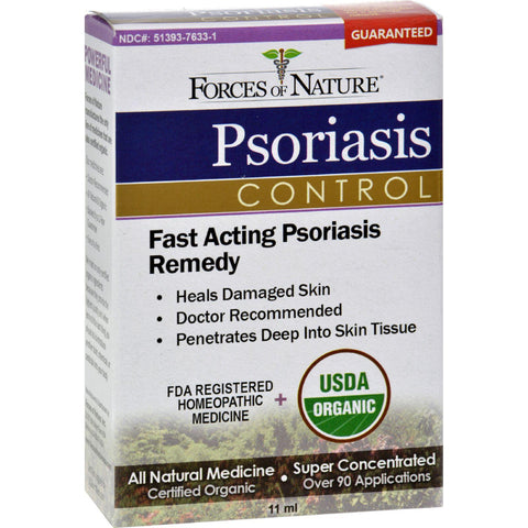 Forces Of Nature Organic Psoriasis Control - 11 Ml - Default Title - Homeopathic, Botanicals & Herbs - Forces Of Nature