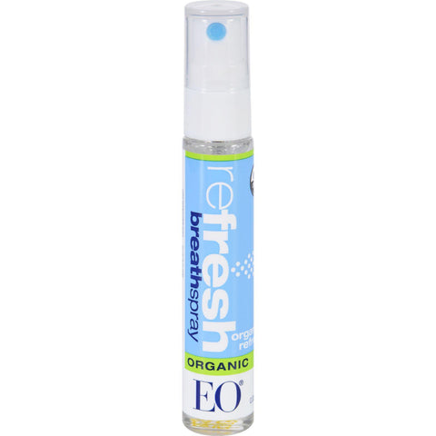 Eo Products Breath Spray - Organic Refresh - Counter Dsp - .33 Oz - 1 Case