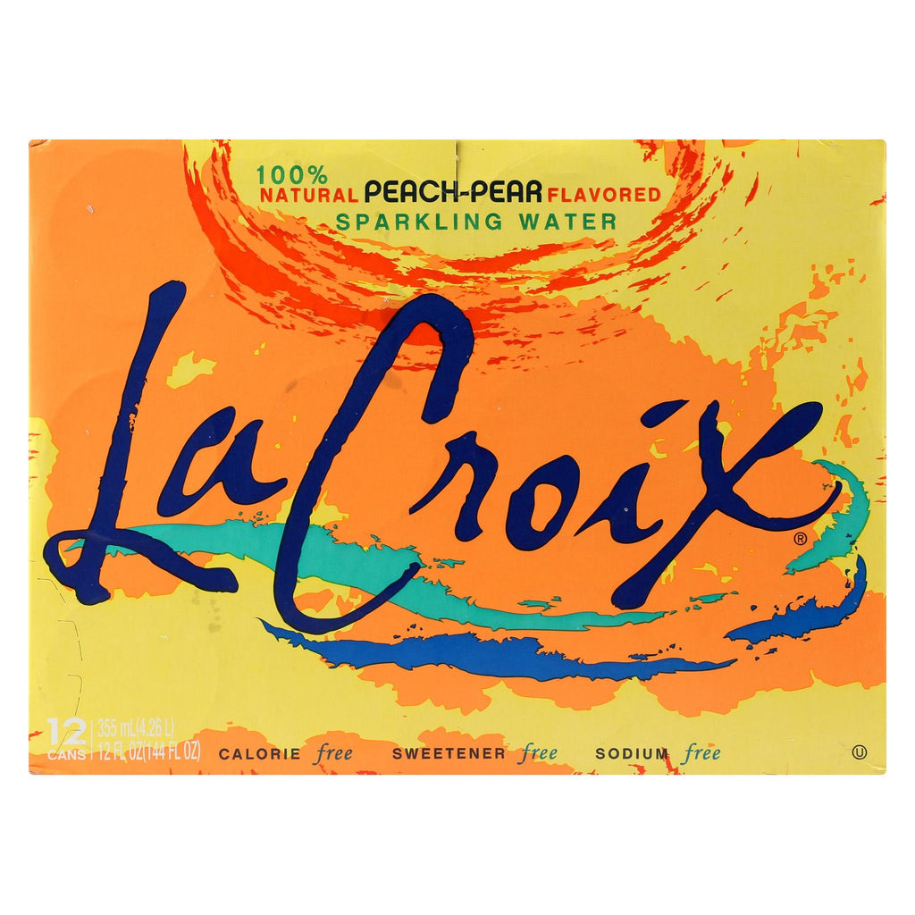 Lacroix Sparkling Water - Peach Pear - Case Of 2 - 12 Fl Oz.