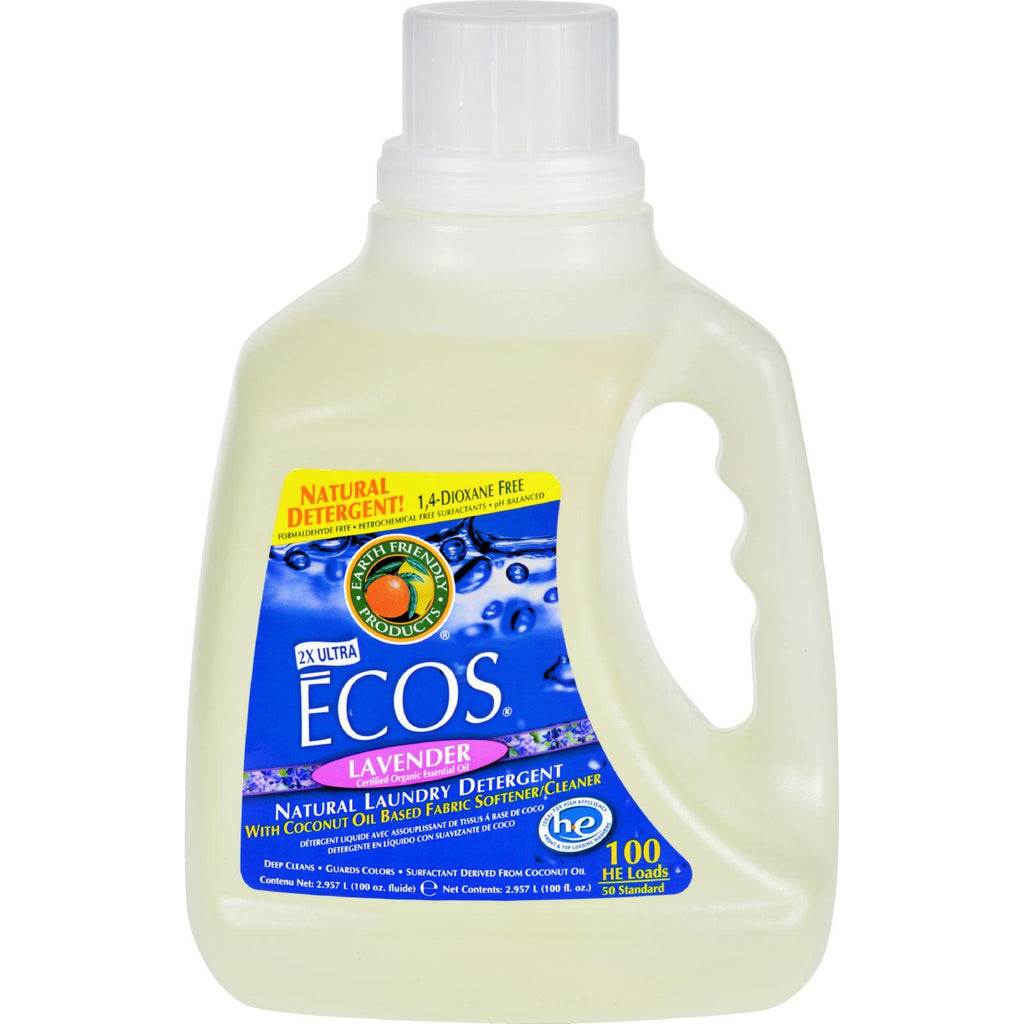 Earth Friendly Ecos Ultra 2x All Natural Laundry Detergent - Lavender - 100 Fl Oz
