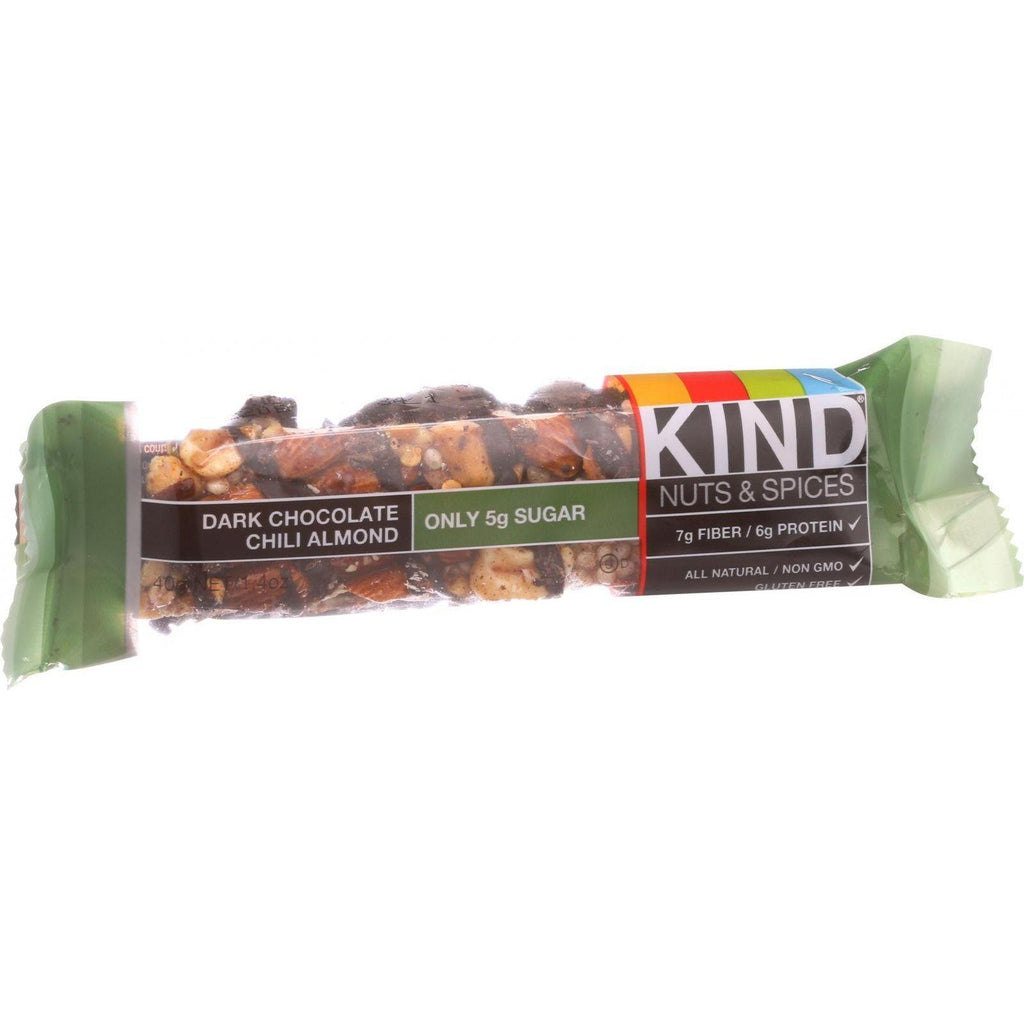 Kind Bar - Dark Chocolate Chili Almond - 1.4 Oz Bars - Case Of 12 - Default Title - Cooking, Foods & Beverages - Kind