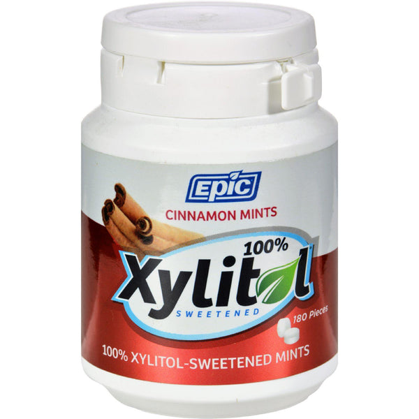 Epic Dental Mints - Cinnamon Xylitol Bottle - 180 Ct