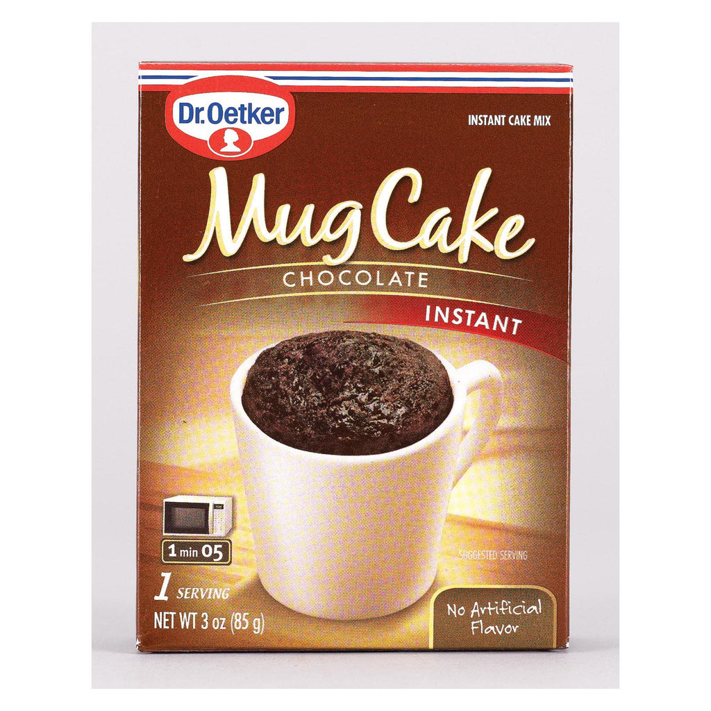 Dr. Oetker Organics Mug Cake Chocolate Instant Cake Mix - Case Of 12 - 3 Oz.