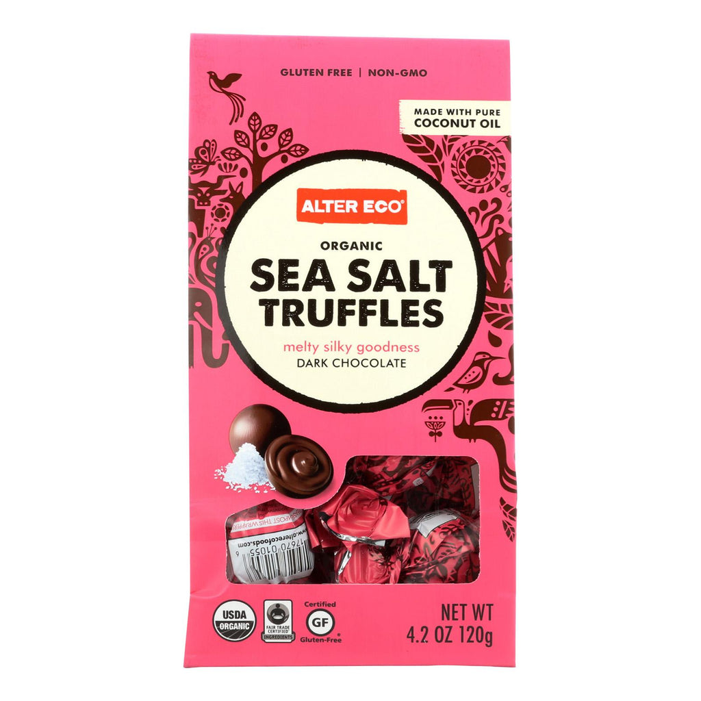 Alter Eco Americas Truffles - Sea Salt - Case Of 8 - 4.2 Oz.