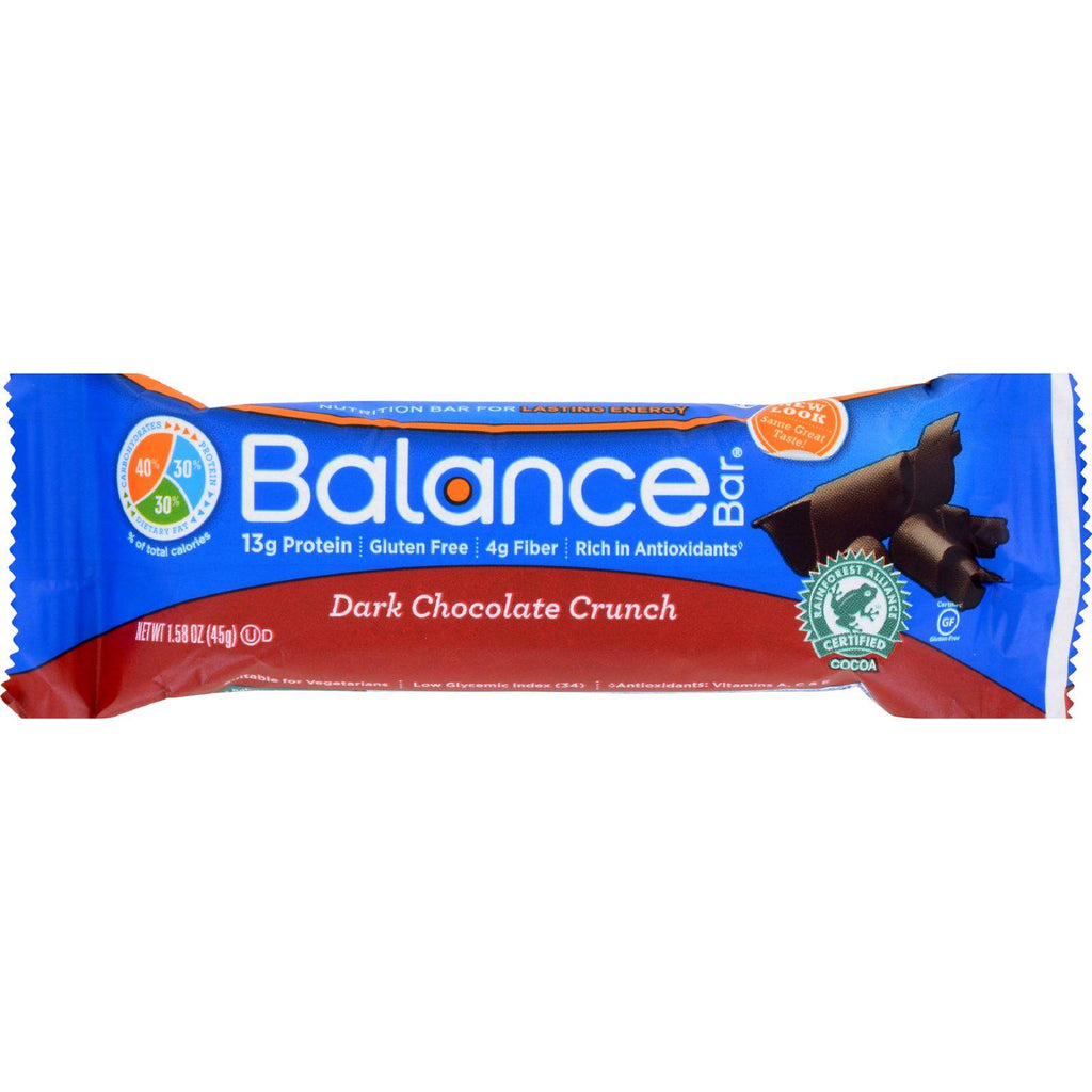 Balance Bar - Dark Chocolate Crunch - 1.58 Oz - Case Of 6 - Default Title - Cooking, Foods & Beverages - Balance Bar