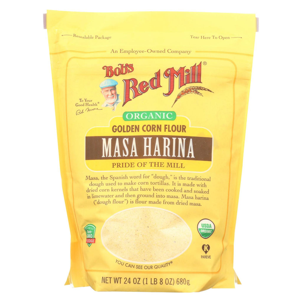 Bob's Red Mill Flour - Organic - Masa Harina - Case Of 4 - 24 Oz