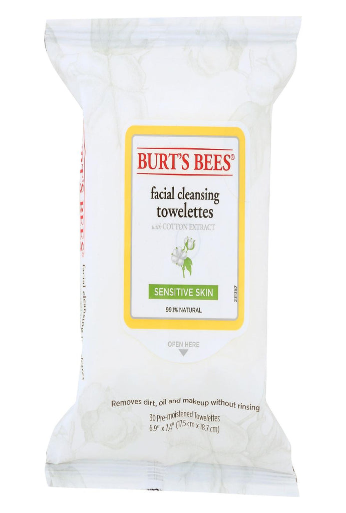 Burts Bees Face Towelette - Sensitive - Case Of 3 - 30 Count