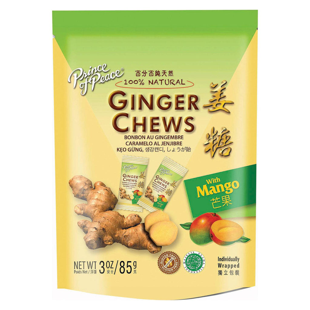 Prince Of Peace Candy Chews - Ginger Mango - 3 Oz