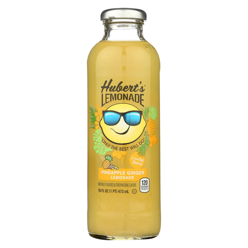 Hubert's Lemonade -pineapple Ginger - Case Of 12 - 16 Fl Oz