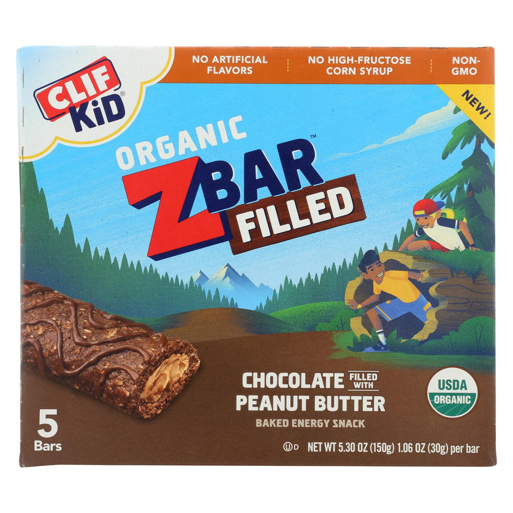 Clif Kid Zbar Filled - Chocolate Peanut Butter - Case Of 8 - 5-1.06oz