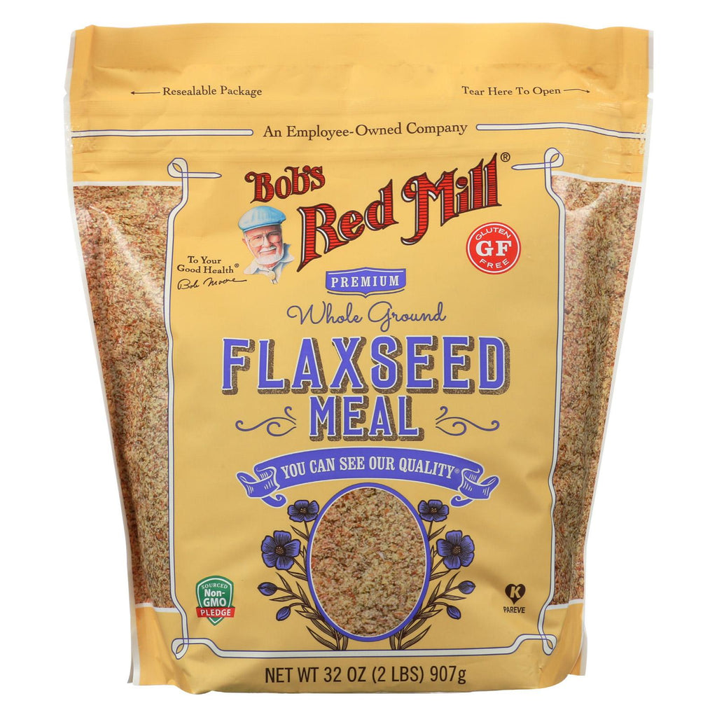 Bob's Red Mill Flaxseed Meal - Gluten Free - Case Of 4 - 32 Oz