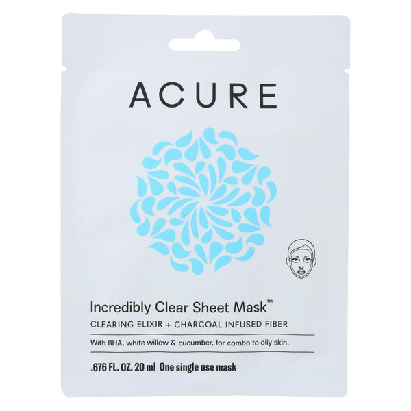 Acure Mask - Sheet - Clear - 1 Ea