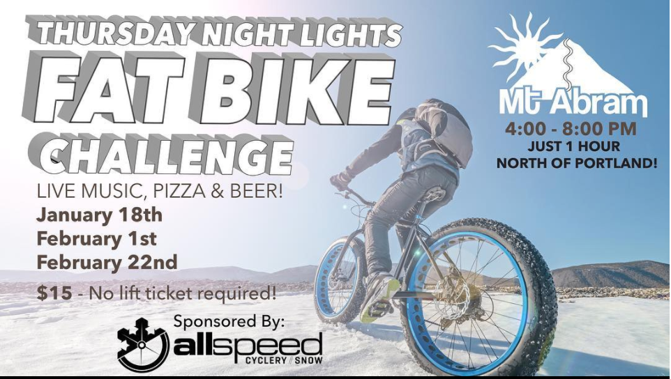 Fat Bike Challenge at Mt Abram - Greenwood, ME
