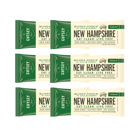 Six Pack - NEW HAMPSHIRE Quinoa Cookie (6 bars)
