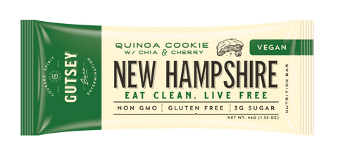 NEW HAMPSHIRE -  New Hampshire - Quinoa Cookie w/ Chia & Cherry (12 bars)