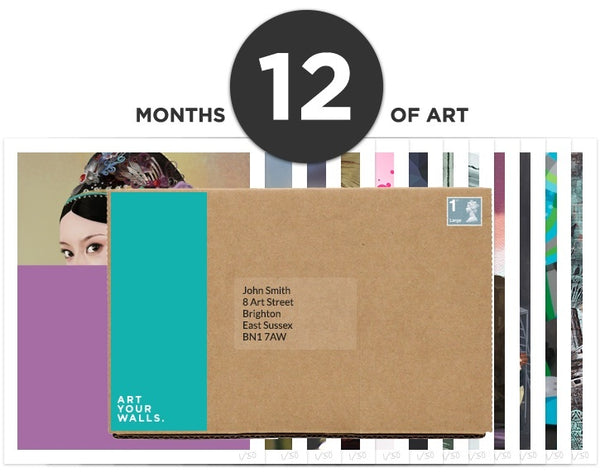 12 Months Art Subscription