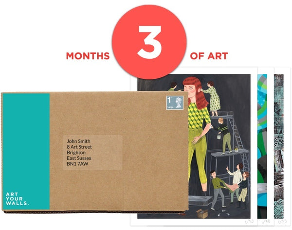 3 Months Art Subscription