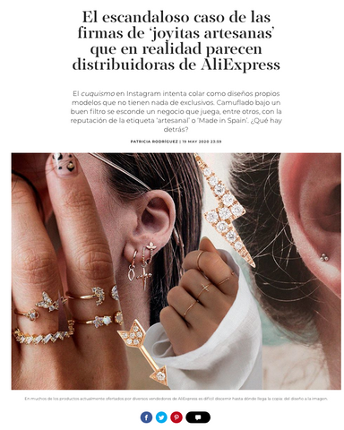 Escandalo joyas aliexpress Small Affaire made in Spain