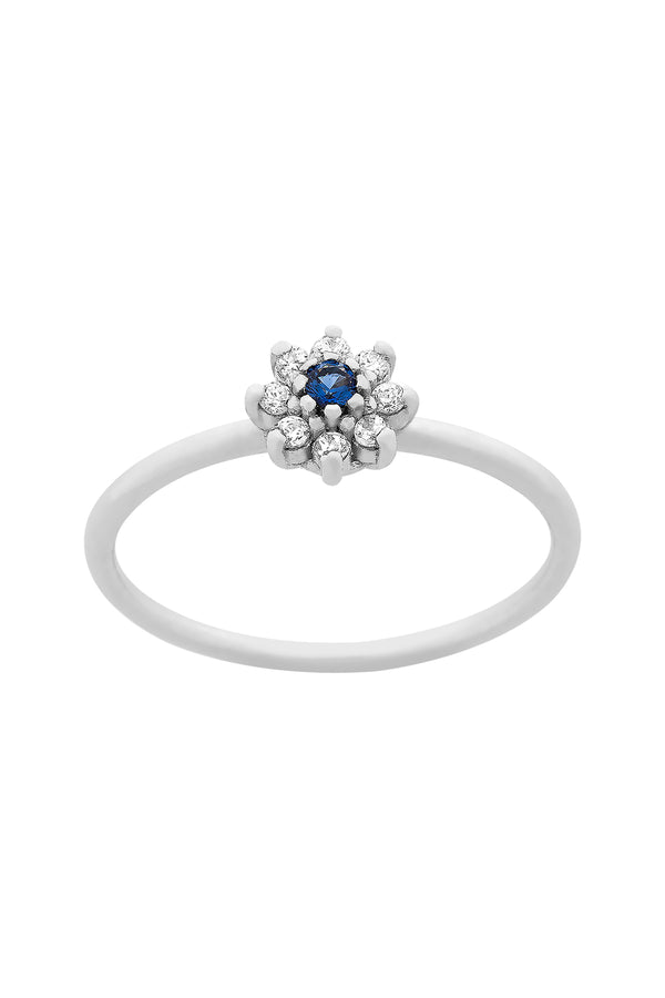 Anillo Margherita Blue Silver