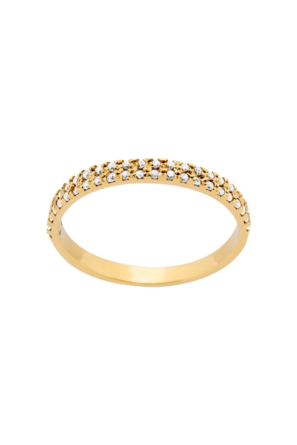 ANILLO DOUBLE ICE GOLD