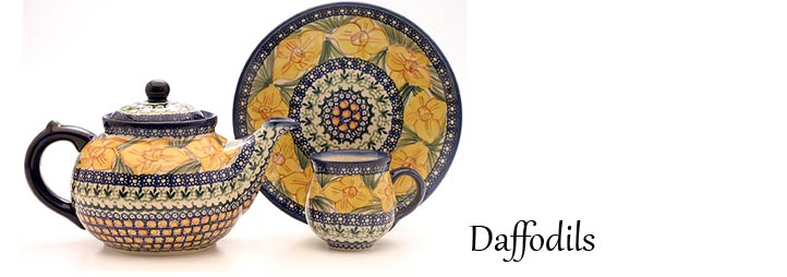 Daffodil Pattern - Traditional Polish Pottery