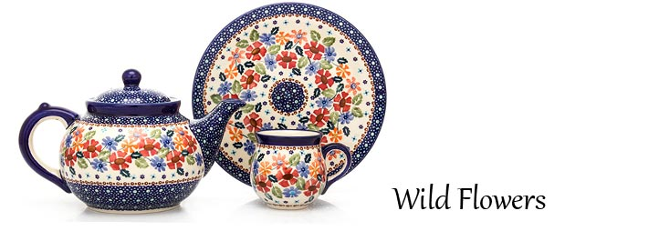 Wild Flowers Pattern - Traditional Polish Pottery