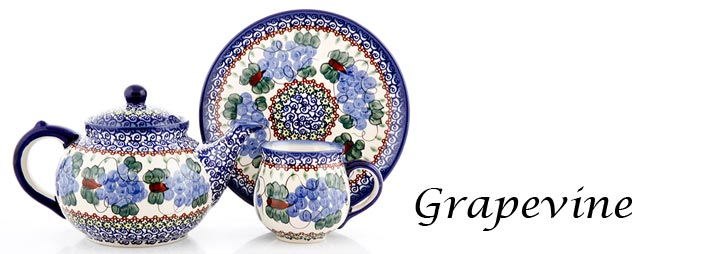Polish Pottery Pattern Grapevine