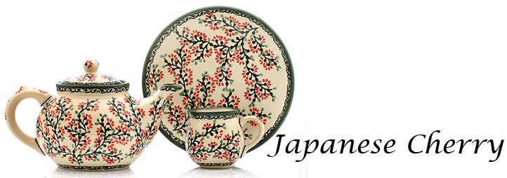 Polish Pottery Pattern Japanese Cherry