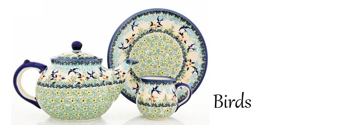 Polish Pottery Birds Pattern