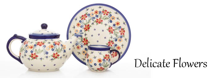 Polish Pottery Delicate Flowers Pattern