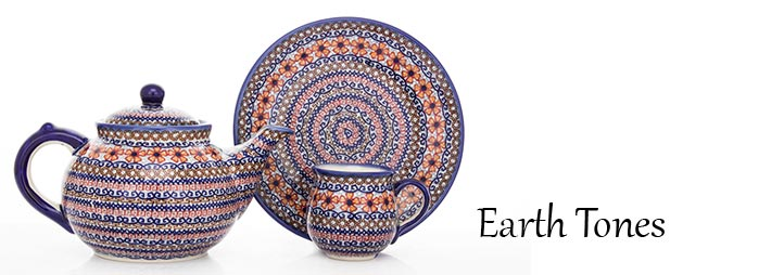 Polish Pottery Earth Tones Pattern