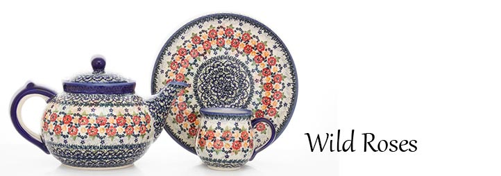 Polish Pottery Wild Roses Pattern