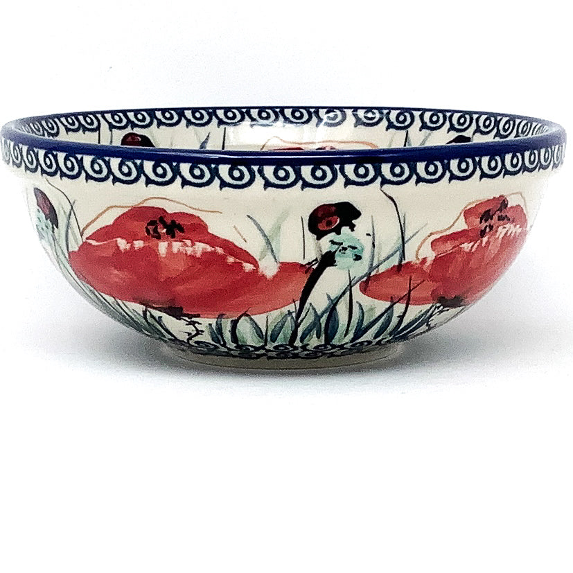 Dessert Bowl 12 oz in Polish Poppy