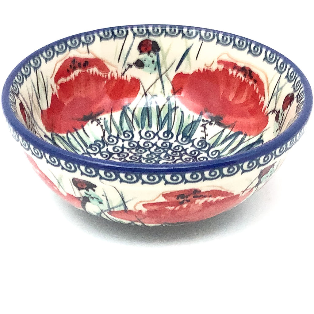 Dessert Bowl 16 oz in Polish Poppy