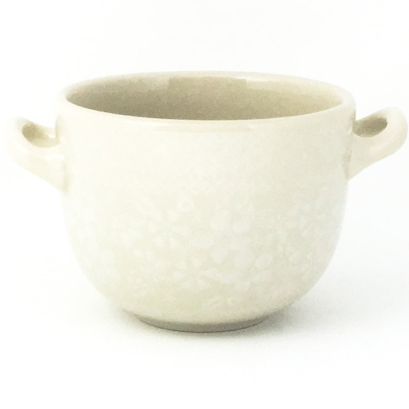 Bouillon Cup 16 oz in White on White