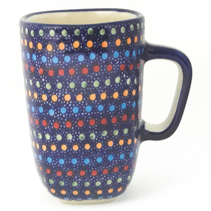 Green Tea Cup in Multi-Colored Dots