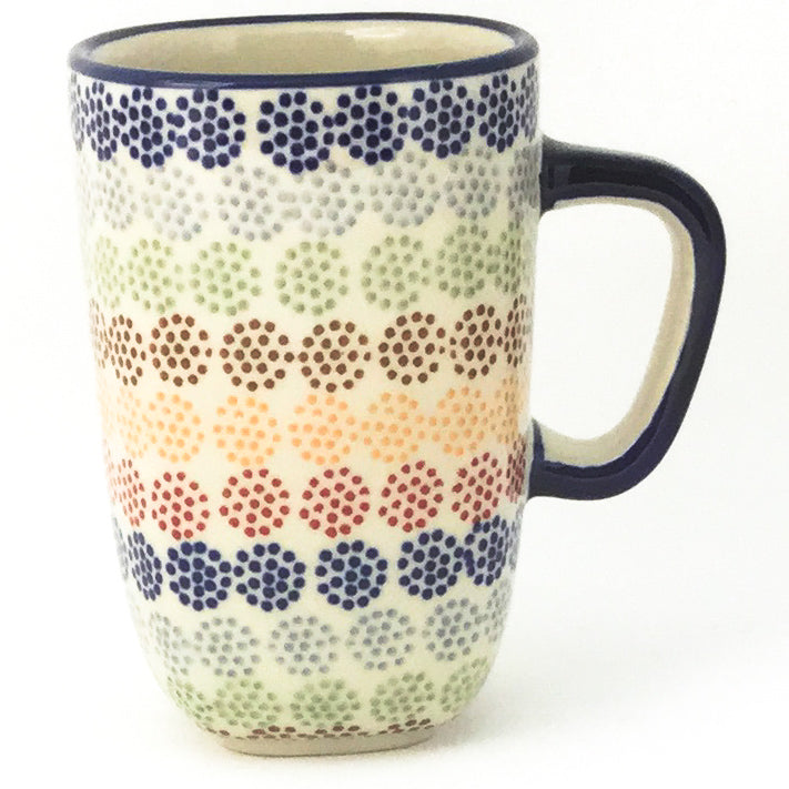 Green Tea Cup 10.5 oz in Modern Dots