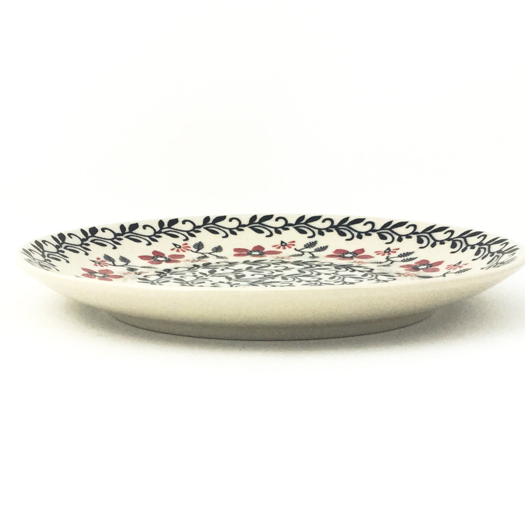 Luncheon Plate in Red & Black