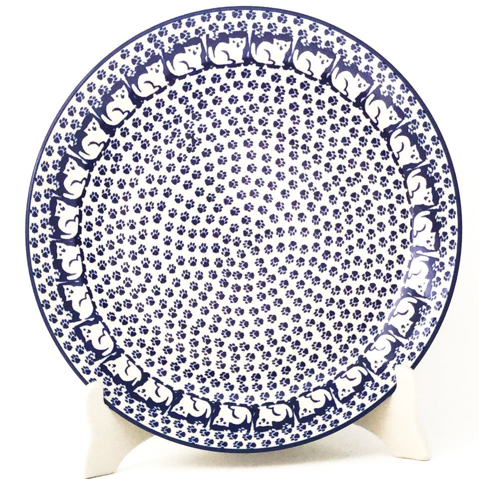 "Dinner Plate 10"" in Blue Cats"