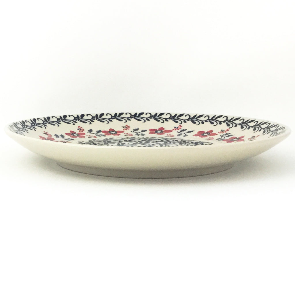 "Dinner Plate 10"" in Red & Black"