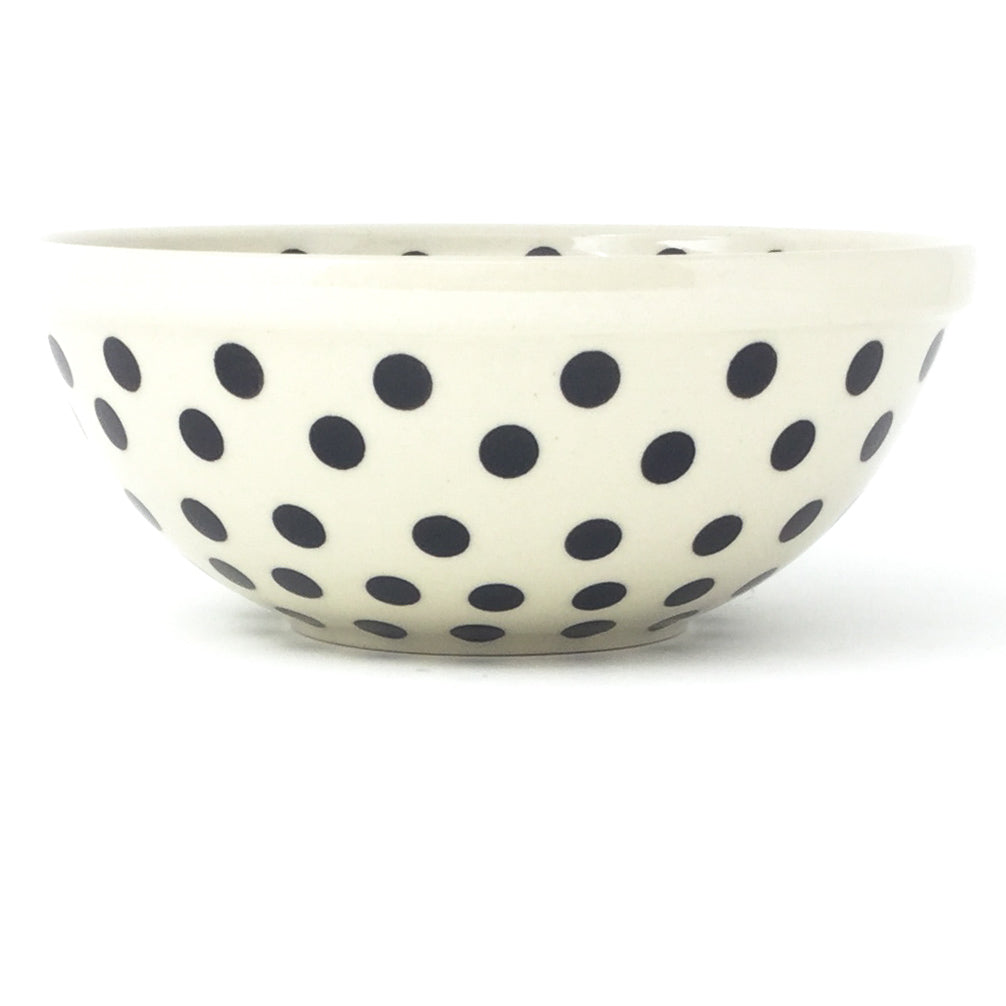 New Soup Bowl 20 oz in Black Polka-Dot