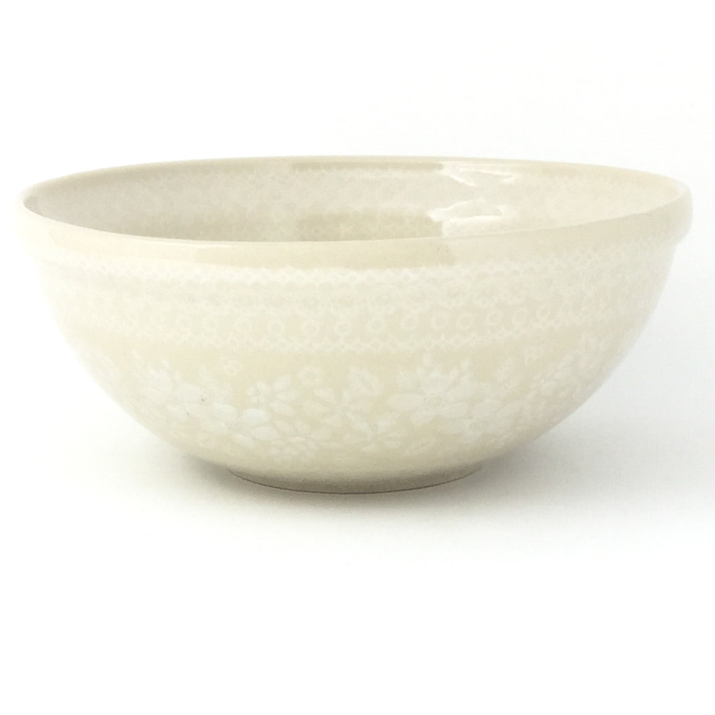 Round Bowl 32 oz in White on White