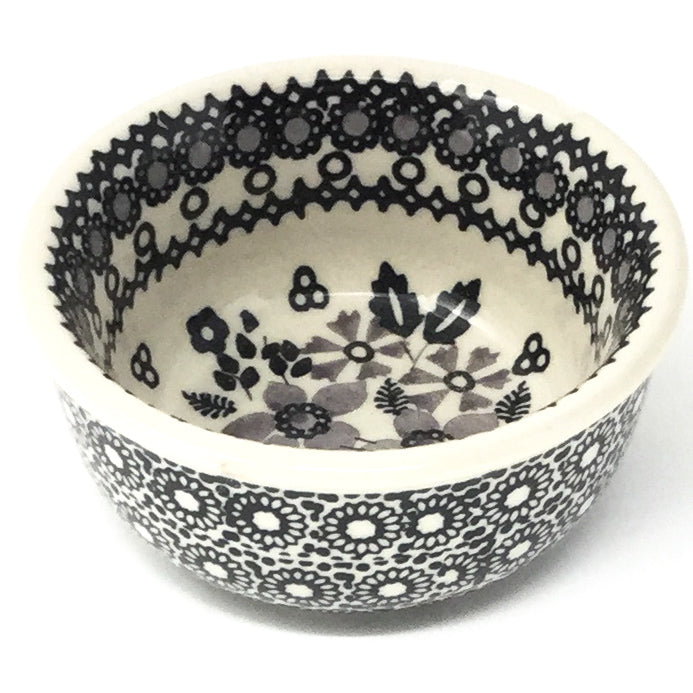 Tiny Round Bowl 4 oz in Gray & Black