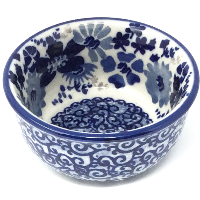 Tiny Round Bowl 4 oz in Stunning Blue