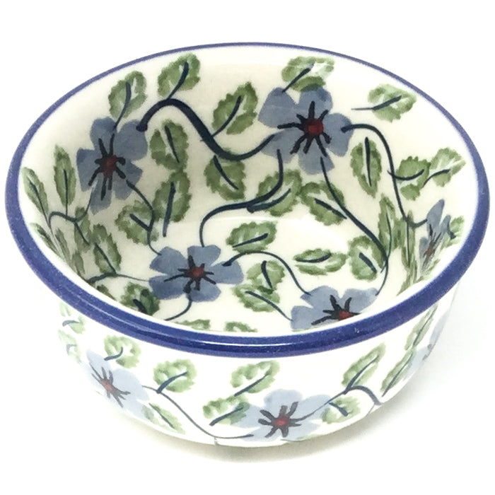 Tiny Round Bowl 4 oz in Blue Clematis
