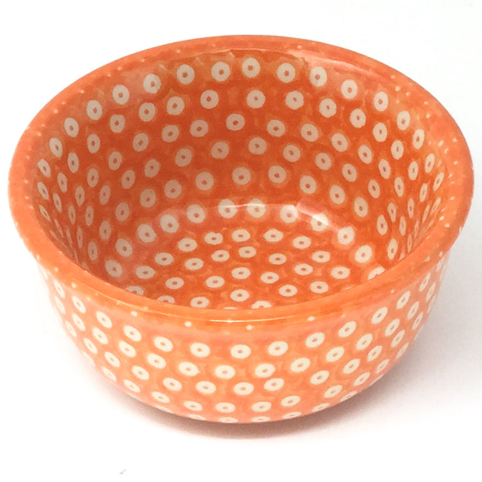 Tiny Round Bowl 4 oz in Orange Elegance