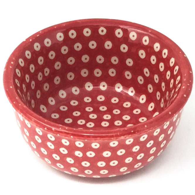 Tiny Round Bowl 4 oz in Red Elegance