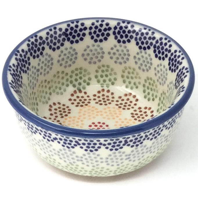 Tiny Round Bowl 4 oz in Modern Dots