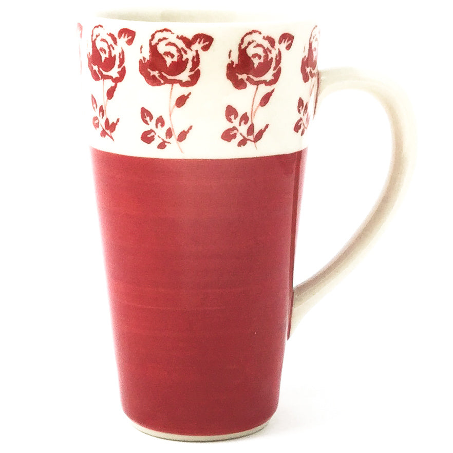 Tall Cup 12 oz in Red Rose